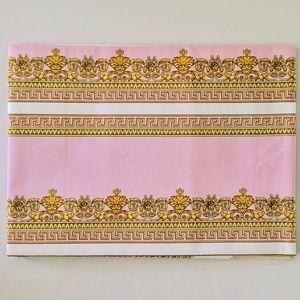 Gianni Versace Pink Gold Placemat & Napkin Set VTG